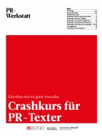 Crashkurs für PR-Texter (Print)
